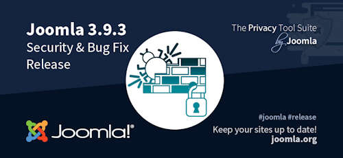 Joomla 3.9.3 als Security & Bugfix Release erschienen