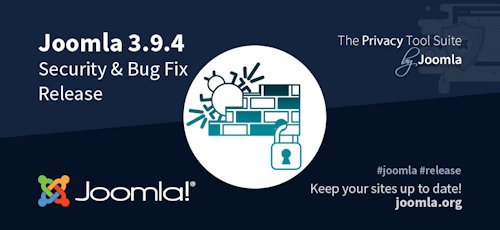 Joomla 3.9.4 als Security & Bugfix Release erschienen