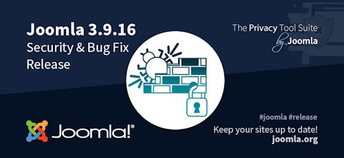 Joomla 3.9.16 erschienen - Security & Bugfix Release