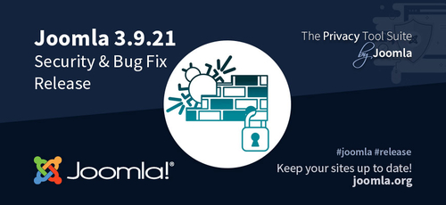 Joomla 3.9.21 erschienen - Security & Bugfix Release